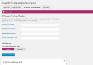 Pagina-strumenti-per-il-webmaster-YOAST