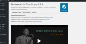 Pannello di amministrazione di WordPress.org